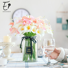 Erxiaobao Real Touch PU White Purple Yellow Red Blue Green Pink Fake Calla Lily Artificial Flowers Wedding Home Decoration