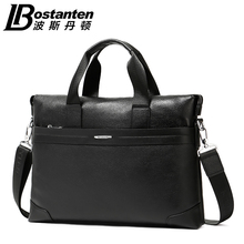 BOSTANTEN 2016 New Design 100% Laptop Cowhide Men's Business briefcase Genuine Leather Man Vintage Shoulder Computer Bag