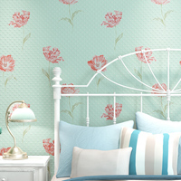 Thickening 3d Three Dimensional Rustic Wallpaper Eco Friendly Big Flower Non Woven Wallpaper Sofa Background Wall