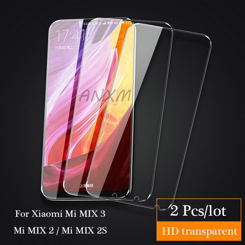 Image 2 - 2Pcs/lot Full Cover Tempered Glass For Xiaomi Mi MIX 2 2s 3 MIX3 MIX2s MIX2 Screen Protector For Xiaomi Mi MIX 3 2 2s Glass Film-in Phone Screen Protectors from Cellphones & Telecommunications