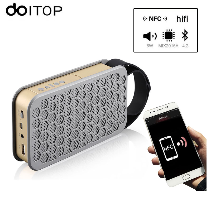 DOITOP NFC Wireless Bluetooth Stereo font b Speaker b font With Remote Control Portable Hifi Music