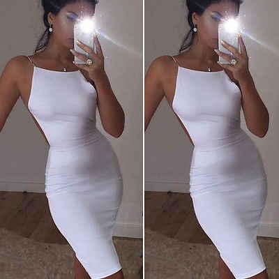 Hirigin 2018 женское облегающее платье бодикон без рукавов Белый Черный Цвета с круглым вырезом вечерние сексуальные вечерние мини-платья