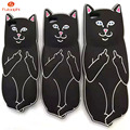 3D Cute Cartoon Middle Finger Cat Phone Case Cover Soft Silicon Ripndipp Pocket Cat Phone Case For iPhone 5 5S SE 6 6S 6/6s Plus