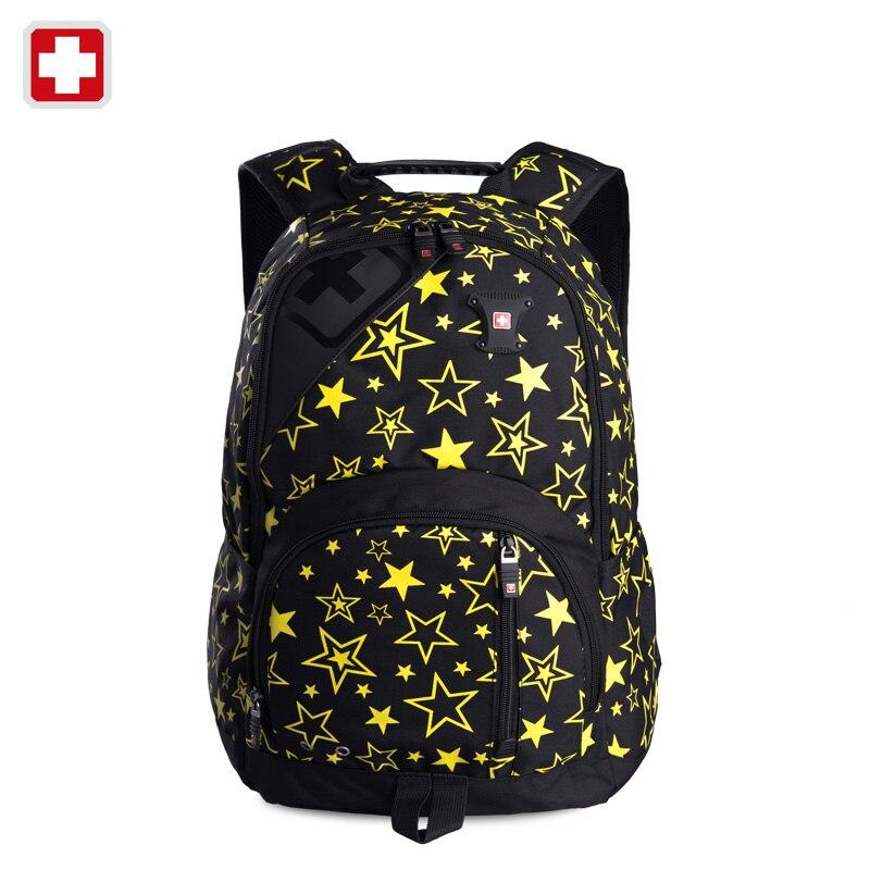 ФОТО Swisswin 2015 women backpack double shoulders swiss bag 15