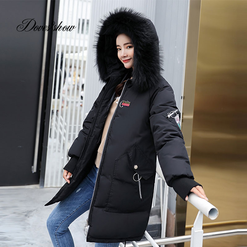 Hooded Fur Collar Velour Winter   Down     Coat   Jacket Long Thick Warm Women Casaco Feminino Abrigos Mujer Invierno Wadded Parkas 13