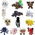 14 unids/lote Minecraft juguete de felpa Brinquedos juguetes juego más barato venta de la alta calidad juguetes de peluche juego de dibujos animados juguetes