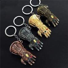 Avengers 3 Thanos Keychain Movie Glove Key Chaveiro chain porte Gauntlet