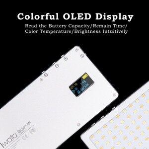 Image 2 - Iwata Pocket LED Telefoon Video Fotografie Licht Oled display Ultra Dunne Aluminium CRI96 + Dimbare 3000 k 5500 K w/Batterij & Statief