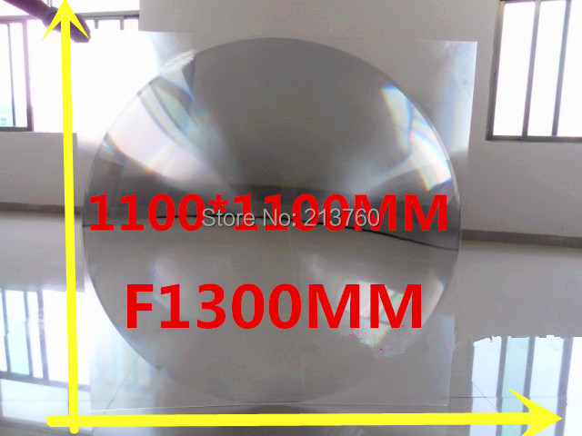 Big Fresnel lens Square Lens 1100*1100 mm Fresnel Lens Focal length 1300mm Temperature can got 1000 Celsius free shipping rectangular size for 165 105 mm focal length 180mm lines from 0 3mm 2017 hot diy projector fresnel lens