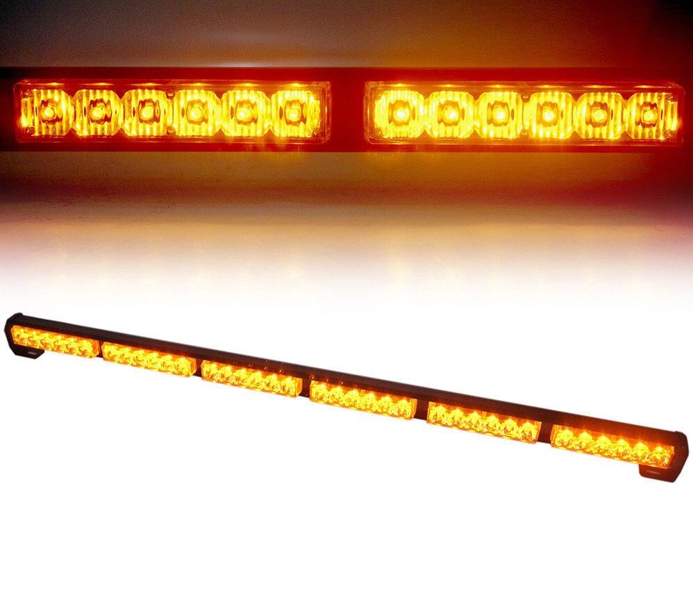 CYAN SOIL BAY 38 36 LED Amber Traffic Advisor Emergency Warning Strobe Waterproof Light Bar