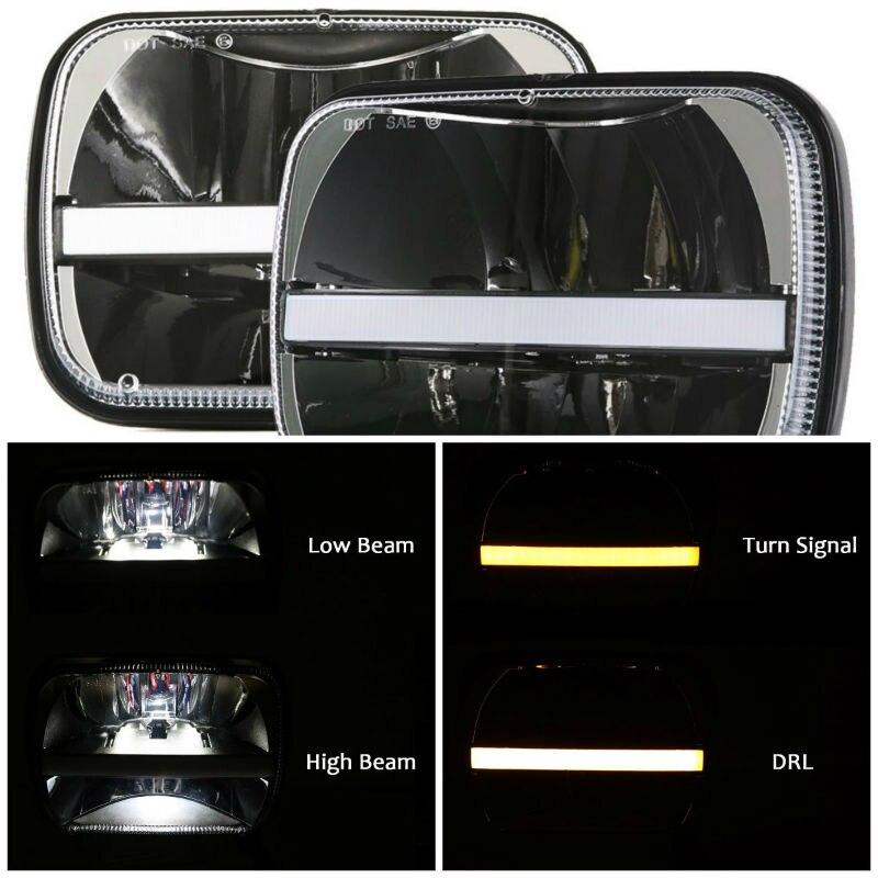 5x7 LED square headlight8800