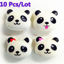 10 Pcs/Lot Cute Jumbo Face Emoji Panda Squishy Slow Rising Straps Pendant Soft Squeeze Scented Bread Cake Kid Toy Gift Wholesale(China)