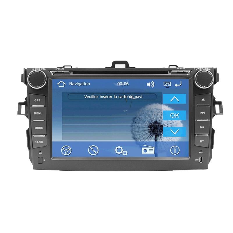 2 din car dvd player for Toyota Corolla 2007 2008 2009 2010 2011 2din Car Radio 8 autoradio stereo with GPS Navigation