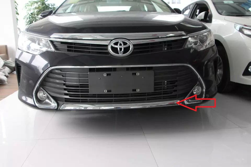 Toyota Camry Parts >> Auto chrome accessories, front bumper trim sticker for ...