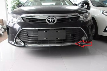 Oto krom aksesuarları, ön tampon trim sticker Toyota Camry 2015 için, ABS krom