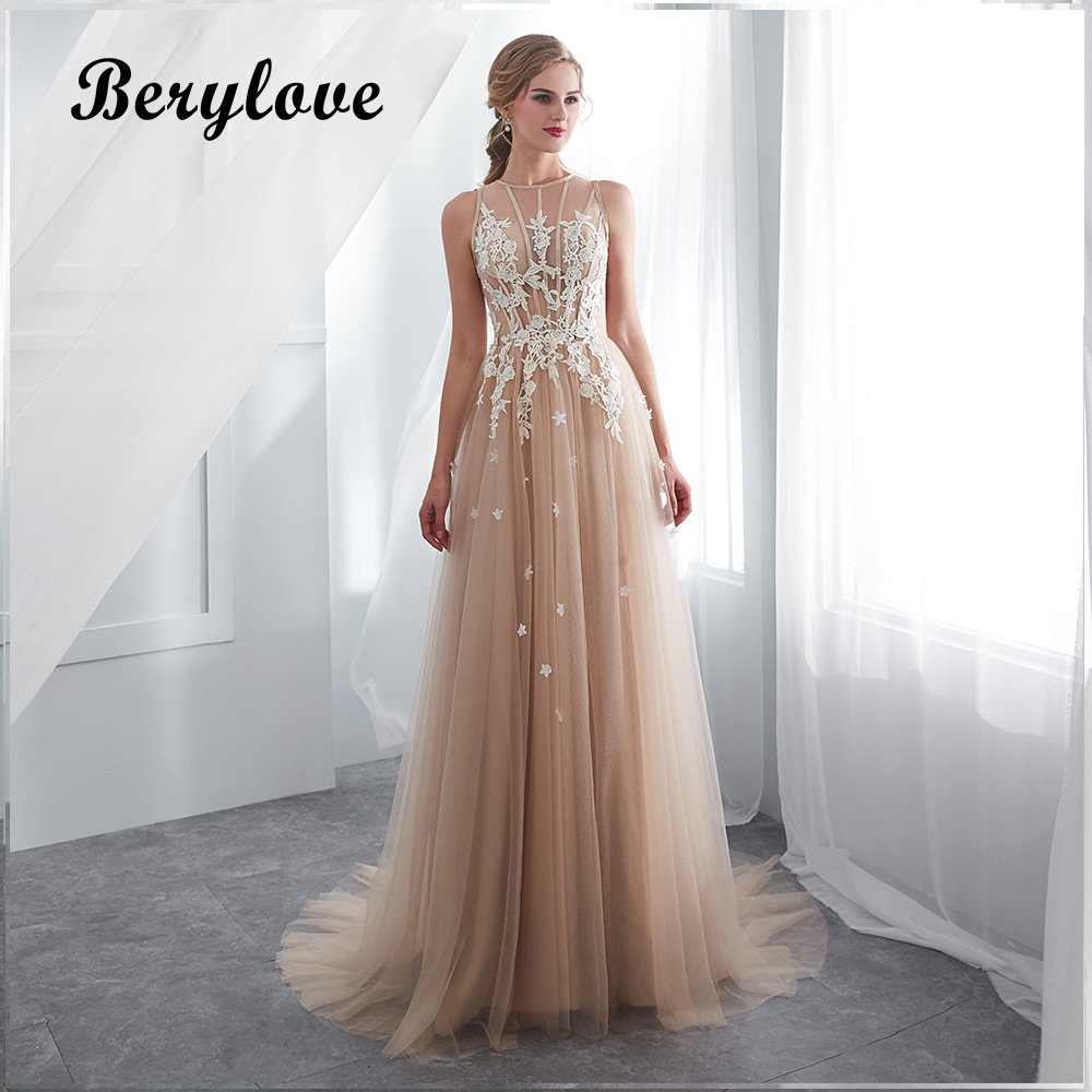 37a236b5b BeryLove Champagne Mermaid Lace Wedding Dresses 2018 Long Tulle Strapless Wedding  Dress China Women Styles Wedding Gowns