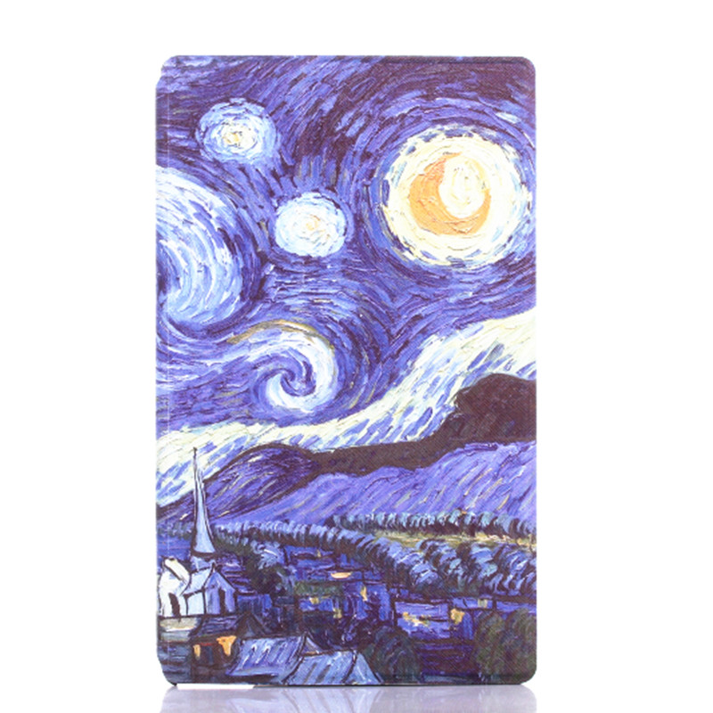 For Sony Z3 Compact Smart PU leather Case Magnetic Cover for Sony Xperia Z3 Tablet Compact 8 Fashion Printings Slim Book Cover