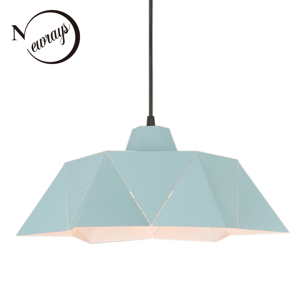 Loft modern iron pendant light LED E27 with 2 colors Nordic simple hanging lamp for home living room restaurant dining room bar nordic modern 10 arm pendant light creative led hanging lamps tube rod toolery for living room dining room lamp home decoration page 4