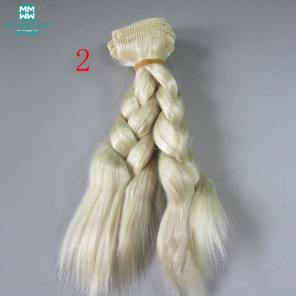 1 unids 15 cm y 25 cm * 100 CM trenza peluca Muñeca pelucas / pelo - Muñecas y peluches - foto 2
