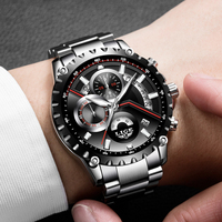 New LIGE luxury brand watch men fashion casual sport quartz wristwatch Steel waterproof men;s watches clock Relogios Masculino