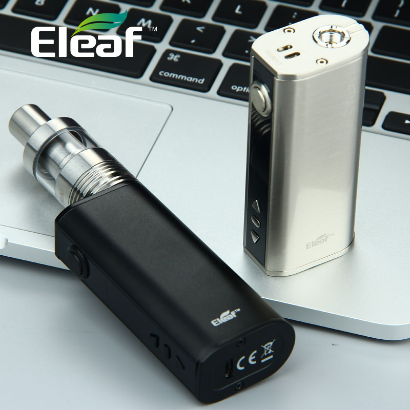 HOT! Eleaf 40W TC Kit Electronic Cigarette w/ iStick 2600mAh Battery Box MOD & iJust 2 Mini 2ml Atomizer Tank Vape vs IKuun I200 smoant battlestar 200w tc mod electronic cigarette mods vaporizer e cigarette vape mech box mod for 510 thread atomizer x2093