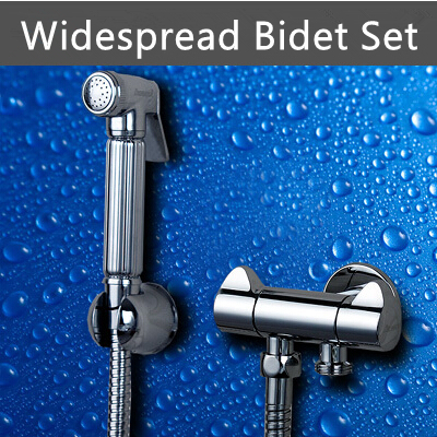 ФОТО 2 Years Warranty Best Copper Bathroom Bidet Faucet Sprayer Set Toilet Spray Gun + Double outlet Angle Valves + 1.5M Brass Hose
