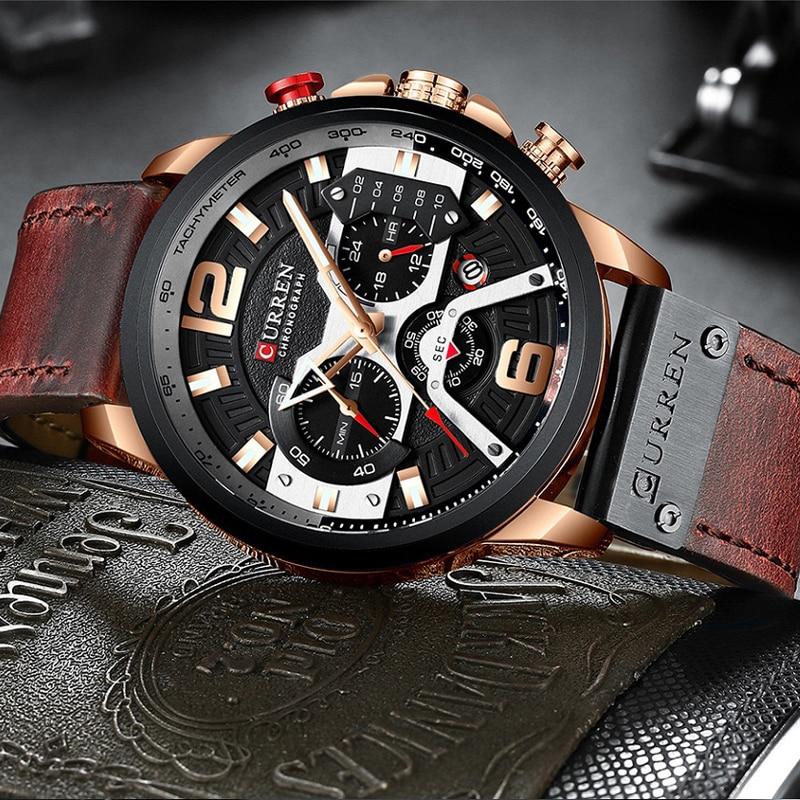 Top Brand Luxury CURREN Chronograph Mens Watches Waterproof Sport Quartz Watch Men Clock Man Wristwatch Famous Relogio Masculino