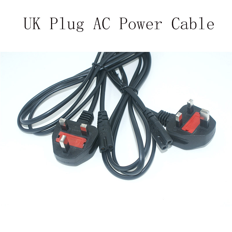 NEW UK Plug AC Figure 8 Power Cord Cable 1.5m 5FT For Battery Charger AC Power Adapter Laptop Wholesale