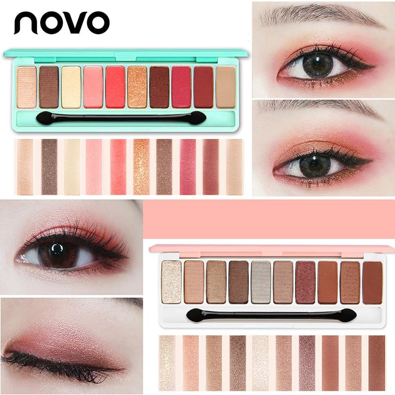 NOVO Eyeshadow Palette 10Colors Matte Shimmer EyeShadow
