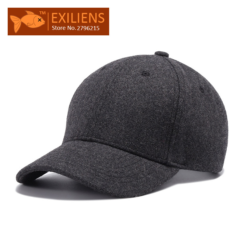 [EXILIENS] 2017 New Fashion Brand Woolen Snapback Caps Solid Gray Strapback Baseball Cap Bboy Hip-hop Hat For Men Women Fitted 2016 new new embroidered hold onto your friends casquette polos baseball cap strapback black white pink for men women cap