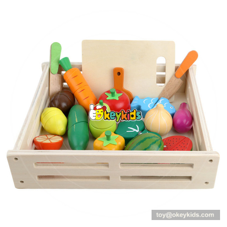 Wooden Pretend Play Kitchen Toys Wooden Cutting Fruit Vegetable Toys Colorful Educational Food Toys for Kids girls free shipping baby toys picnic basket food set wooden play food set pretend play kitchen toys gift