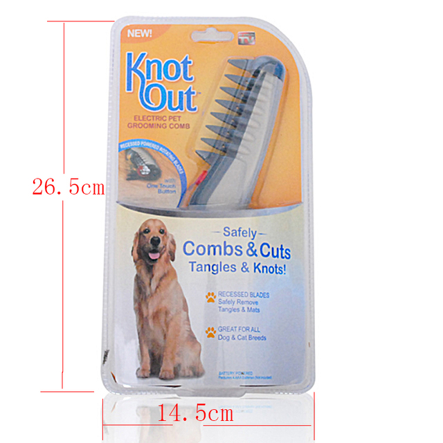 2018 best seller Electric Pet Dog Grooming Comb product Knot Out Cat Hair Trimmer Knot Out Remover