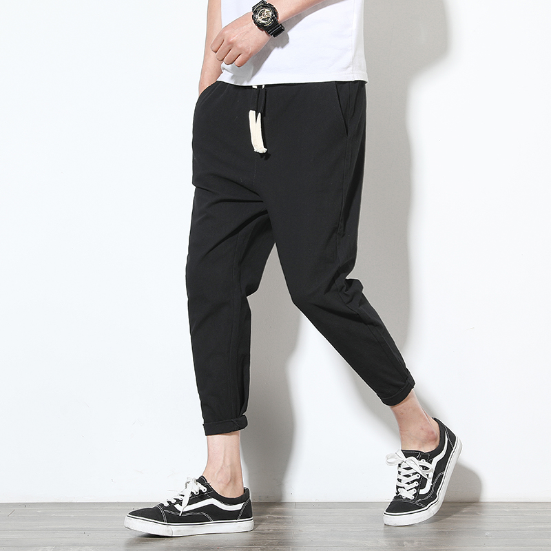 Ankle-Length Linen Pants Men 1