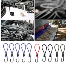 5Pcs Bungee Cord Elastic Stretch Rope Straps with Hook for Camping Tent Canopy Tarp Tie Downs Tents Accessories