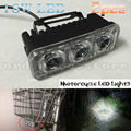 2pcs Super Bright 18W Motorcycle LED Light Headlight Driving Fog Work Headlamp Head Night Safety Lamp