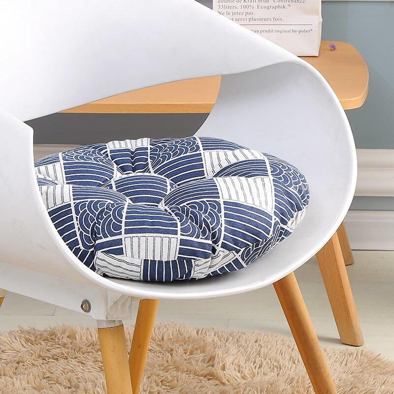 US $6.74 37% OFF|Sofa Throw Pillow Japan Style Chair Cushion Car Seat Pad  Round Cotton Cushions Thicken Soft Kitchen Stool Cushion Chair Seat Mat-in  ...