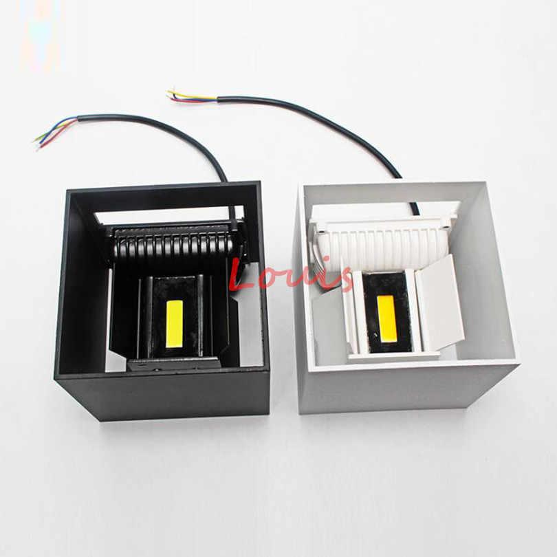 Бесплатная доставка COB 9 Вт 12 Вт 20 Вт квадратный светодиодный настенные светильники краткое Cube Регулируемый поверхности настенный светильник внутреннего и наружного освещения IP65