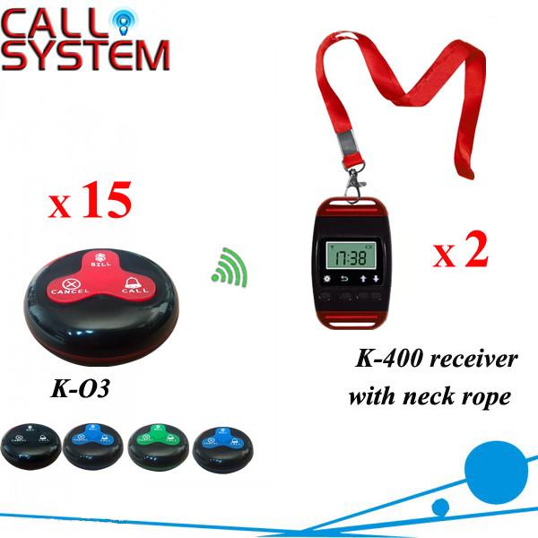 K-400+O3-BR 2+15 Waiter restaurant calling system