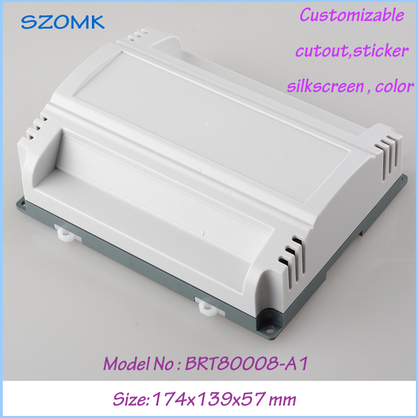 1pc free shipping plastic box electronics din rail enclosure box plastic junction box ABS plastic fireproof 174x139x57 mm 1 piece free shipping plastic enclosure for wall mount amplifier case waterproof plastic junction box 110 65 28mm