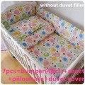 Desconto! 6 / 7 pcs t bebê conjuntos de cama jogo de cama no berço cama para crianças Quilt bumpers, 120 * 60 / 120 * 70 cm