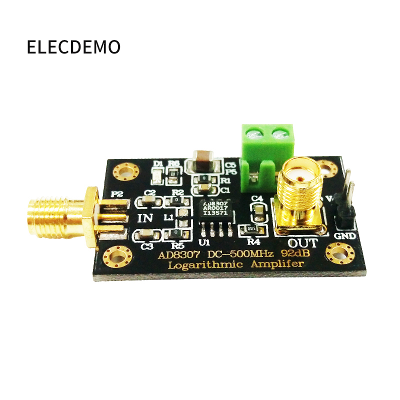 Image 2 - AD8307 module RF Power Detector Module Logarithmic detector Transmitter Antenna Power to 500MHz Function demo board-in Demo Board Accessories from Computer & Office