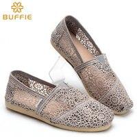 Frauen Schuhe Slip On Wohnungen Schuh Buffie Marke stil Hohlen heraus Sommer Dame Casual Schuh frühling Atmungsaktive schuh HERBST tragen sandale