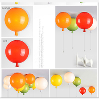 Nordic Lovely D25/30/35cm Acrylic PC Balloon pendant light lamp Kids Gift White yellow red acrylic luminaire lamp suspended lamp