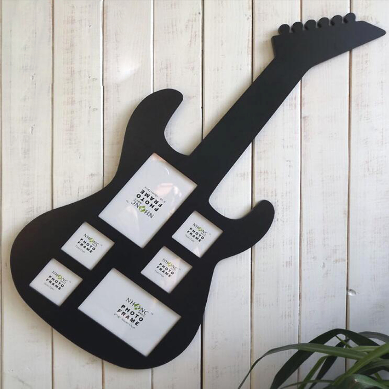 genuine high grade environmental protection paint guitar wood frame home photo frame ornaments familly decoration