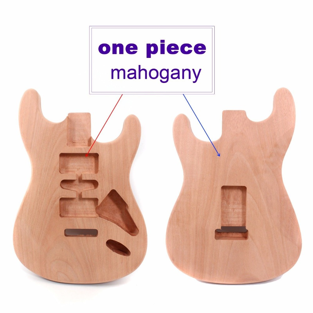 Unfinished Electric Guitar Body Whole Piece of Mahogany Diy Guitar parts/Projec стоимость