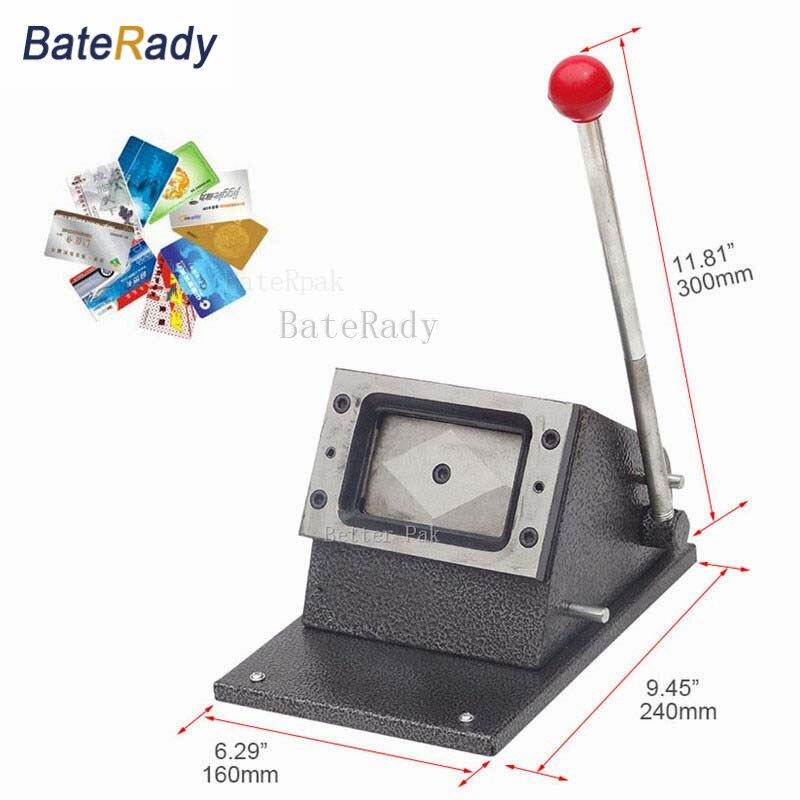 54x86mm baterady pvc card punching machinepaperidentity