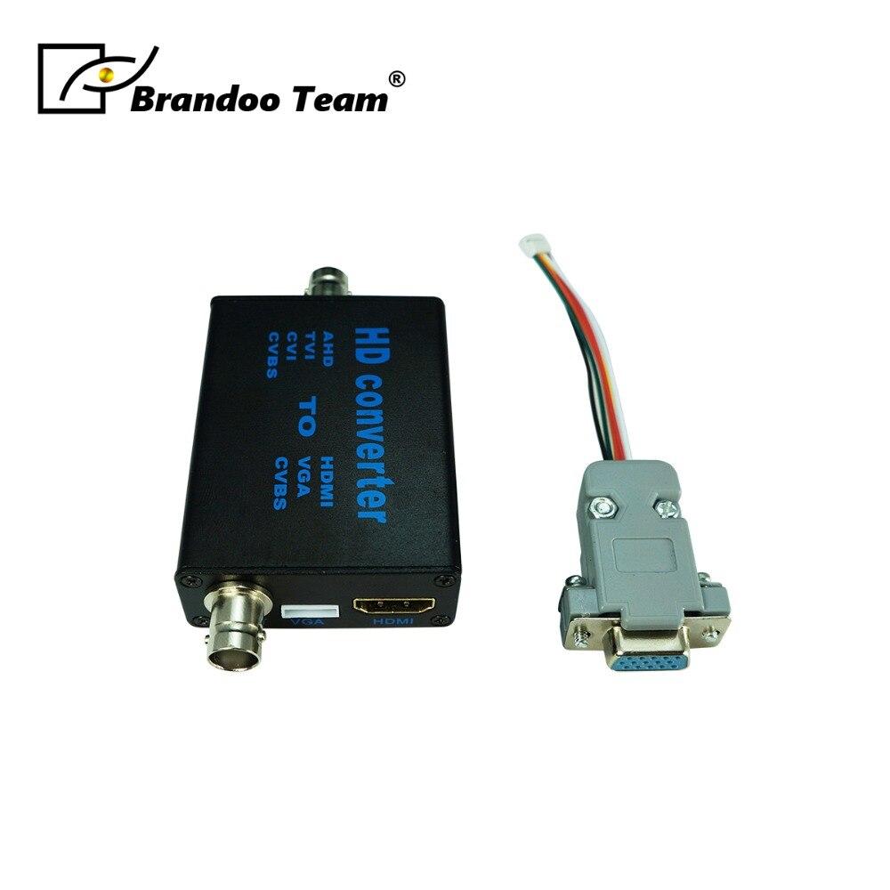 Analogique signal TVI AHD CVI À HDMI VGA CVBS convertisseur vidéo numérique, avec externe VGA connecteur