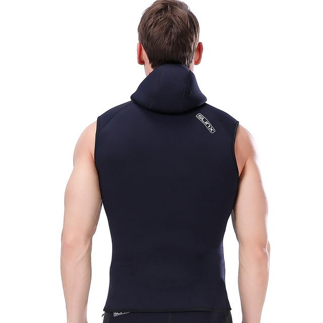 Slinx 3MM neoprene men's Hooded vest wetsuit scuba diving skin diving