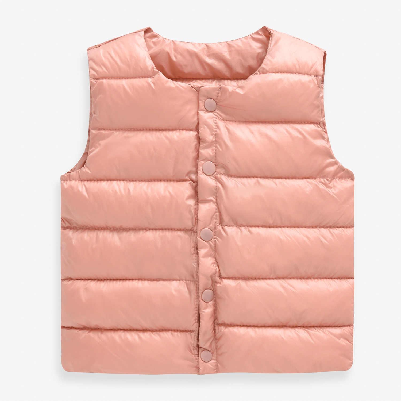 תינוק אפוד סתיו חורף ילד אפוד מעיל ילדי הלבשה עליונה מעילי עבור בנות אפוד תינוק כותנה למטה שרוולים מעיל חמים