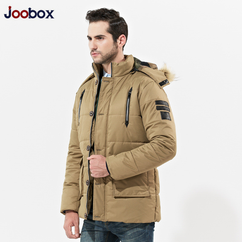 JOOBOX 2017 New Polyester Winter Jackets And Coats Thick Warm Fashion Casual Handsome Young Men Parka Hooded Fit Snow Cold